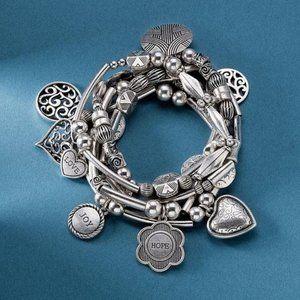 LIA SOPHIA Menagerie Silver Stretch Bracelet